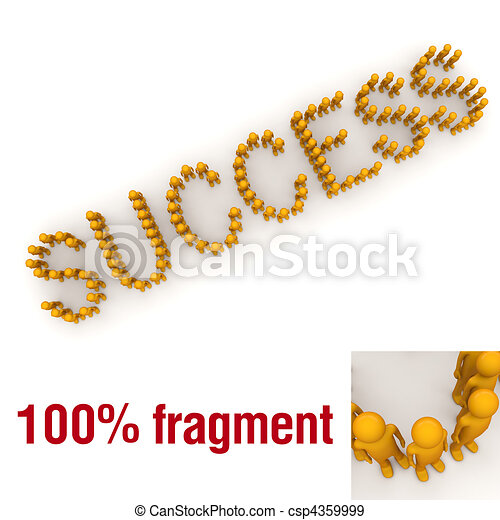 SUCCESS word mounted by tiny characters - csp4359999