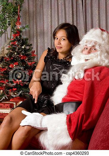 Naughty Santa - csp4360293