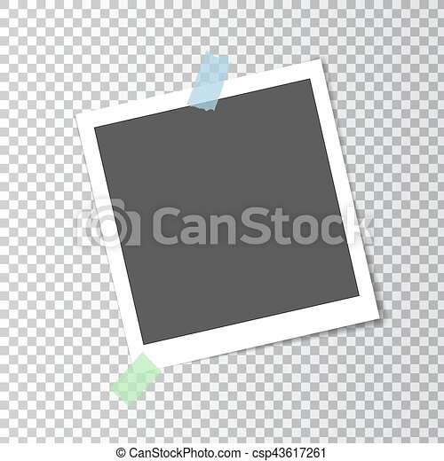 Vector Clip Art Of Retro Polaroid Photo Frame Template On Sticky