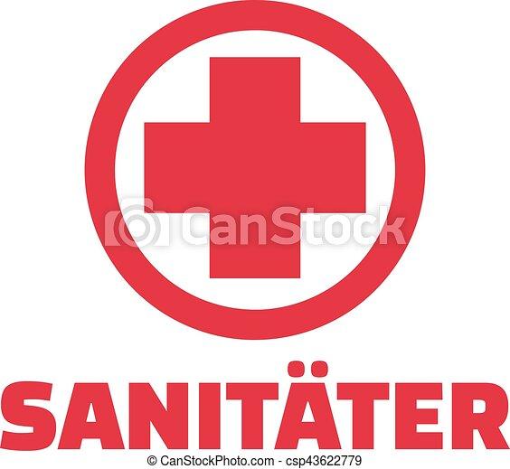 Sanitäter logo  Vektoren Illustration von sanitäter, kreuz, rotes - Paramedic, mit ...