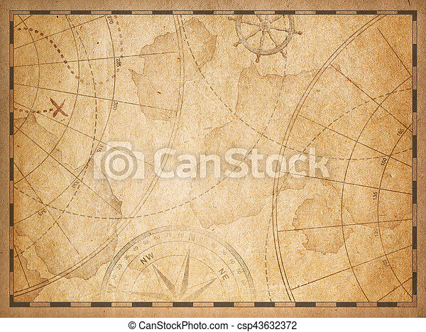 old nautical map background - csp43632372