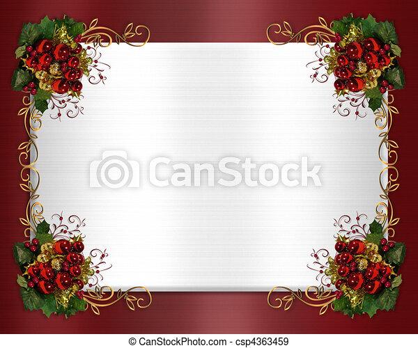 Christmas border classic - csp4363459