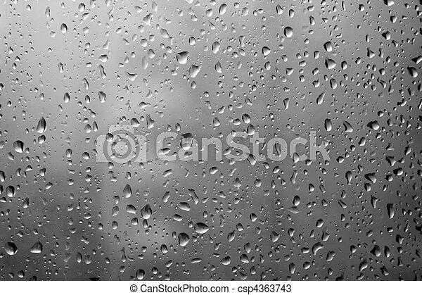 窓, 低下, 雨 - csp4363743