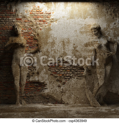 antique women sculptures - csp4363949