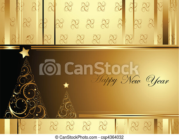 Happy New Year background - csp4364032