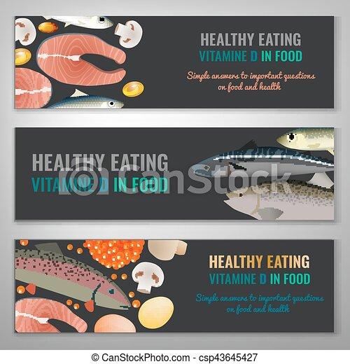 Vitamin D Banners - csp43645427