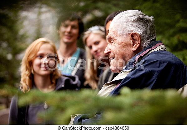 Elderly Man Group - csp4364650