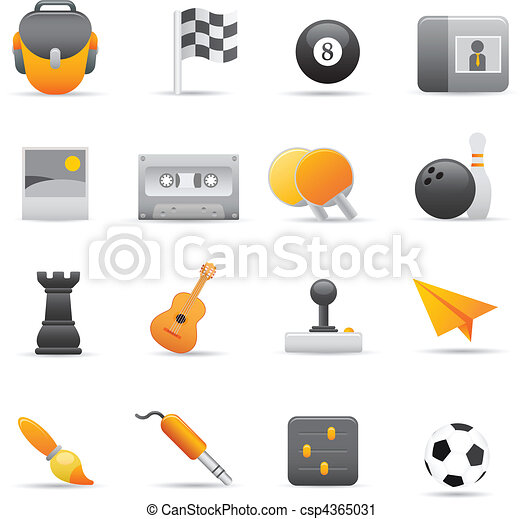 Entertainment Icons | Yellow 02  - csp4365031