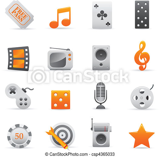 Entertainment Icons | Yellow 03  - csp4365033