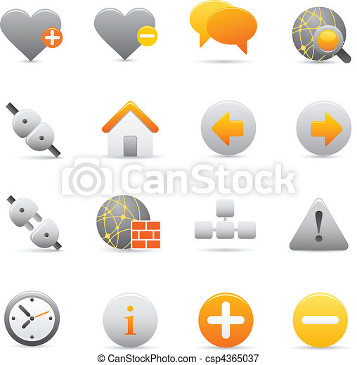 Internet Icons | Yellow 05 - csp4365037