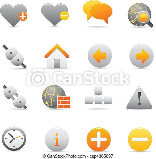 Internet Icons   Yellow 05  - csp4365037