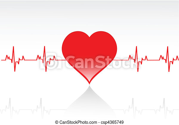 vector heart line - csp4365749