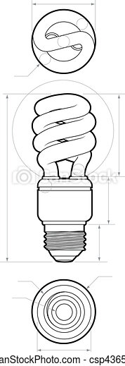Compact Fluorescent Drawing - csp4365923