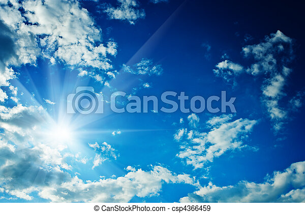 frame of clouds on the sky with sun - csp4366459