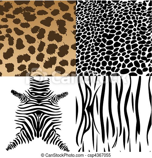 Animals skin. Vector Illustration - csp4367055