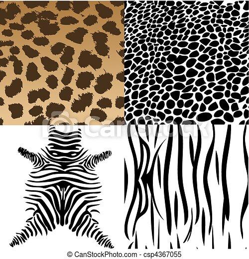 Animals skin. Vector Illustration - csp4367055