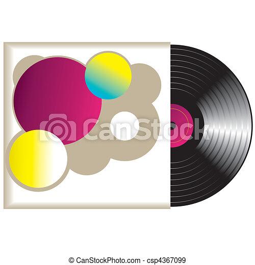 Retro vinyl Record. Vector  - csp4367099