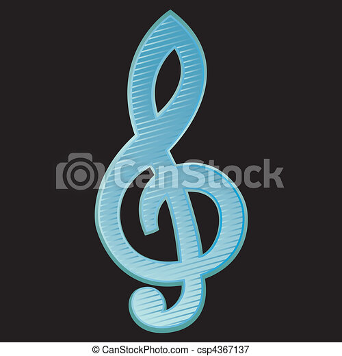 Treble clef.Vector Illustration - csp4367137