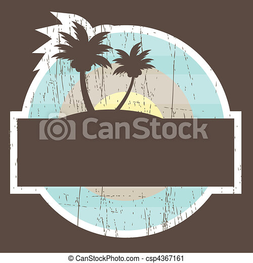 Tropical Beach Banner - csp4367161
