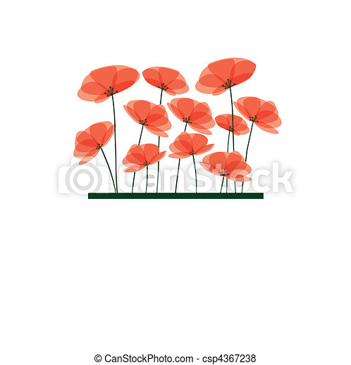 Abstract background with red flower - csp4367238
