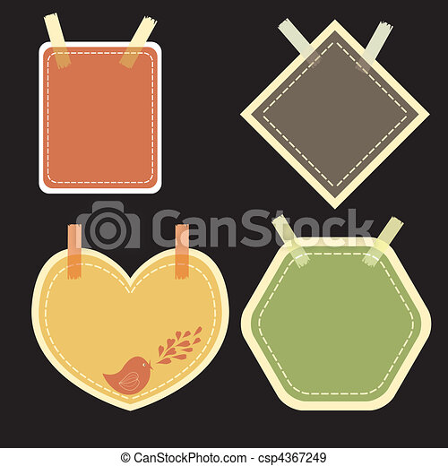 note paper vector - csp4367249