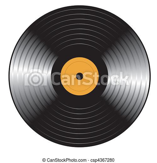 Retro vinyl Record. Vector - csp4367280