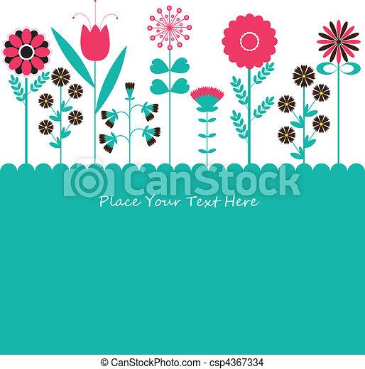 Flowers. vector illustration - csp4367334