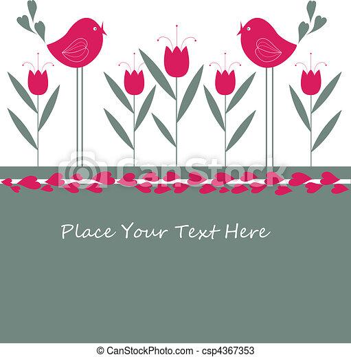 Cartoon congratulatory card  - csp4367353