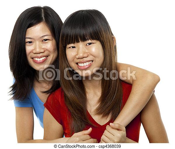 Asian sisters - csp4368039