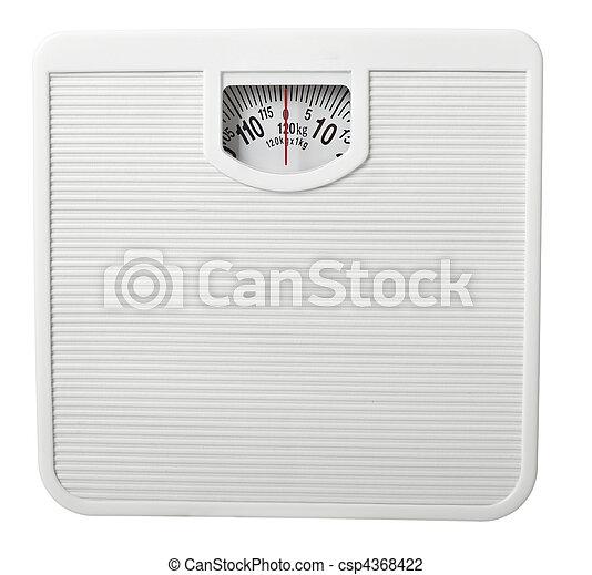 scale libra measurement tape diet - csp4368422