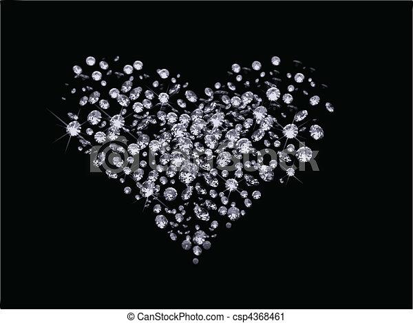 vector Valentines Day diamonds  - csp4368461