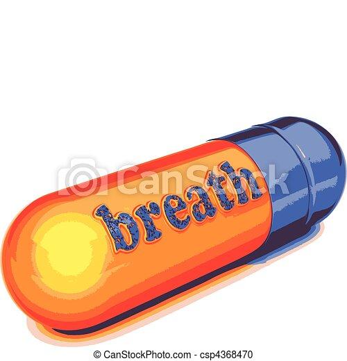 vector blue capsule breath  - csp4368470