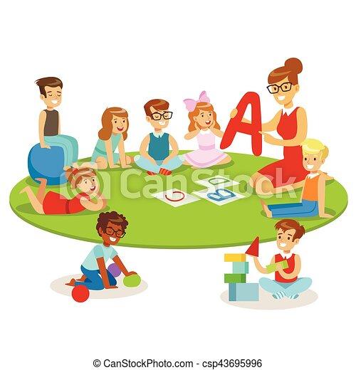 Eps vektoren von schule boden alphabet sitzen liegende for Boden cartoon