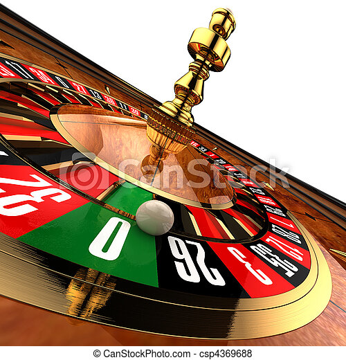 Casino Roulette on white - csp4369688