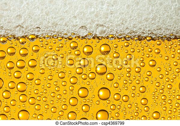 Macro of refreshing beer - csp4369799