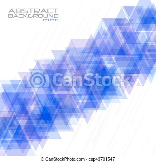 Abstract geometric background. Modern overlapping triangles. Unusual color shapes for your message. Business or tech presentation, app cover template - csp43701547