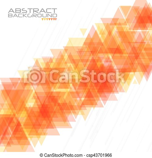Abstract geometric background. Modern overlapping triangles. Unusual color shapes for your message. Business or tech presentation, app cover template - csp43701966