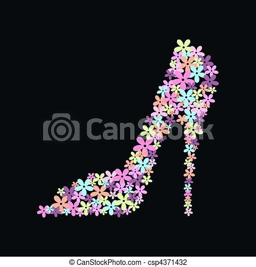 a high heel shoe - csp4371432