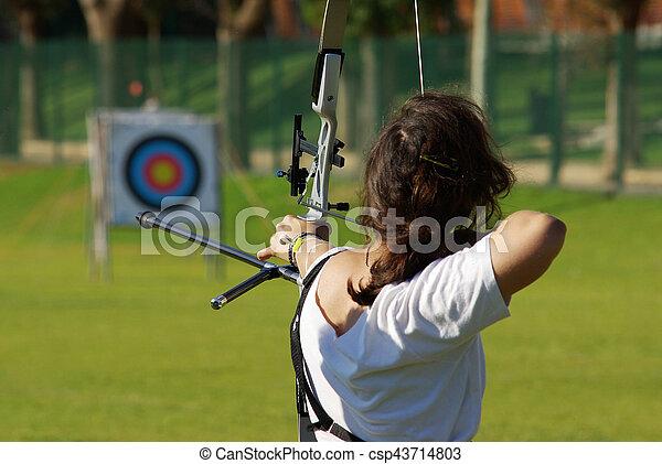 Archery Targeting - csp43714803