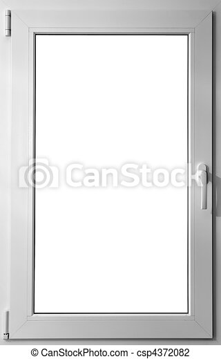 Colorized in white fiberglass window with handle - csp4372082