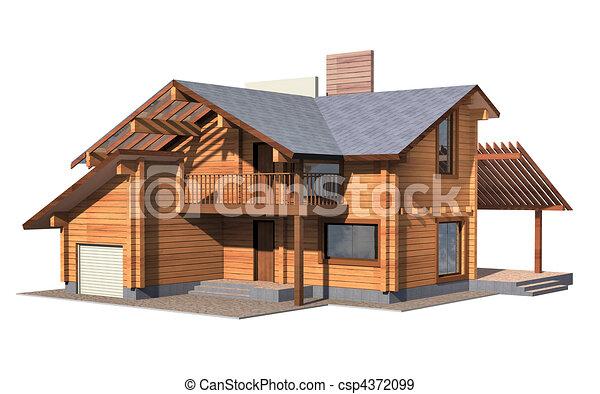 Modelo de cabanas de madera
