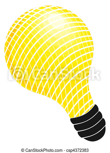 Illustrated lightbulb - csp4372383