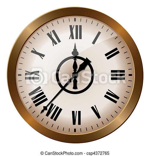 Old-fashioned clock - csp4372765