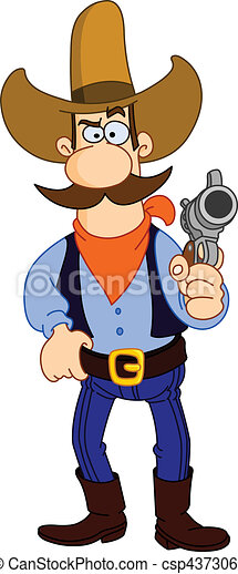 Cowboy cartoon - csp4373061