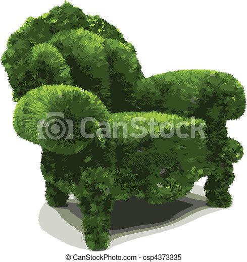 vector herbal chair - csp4373335