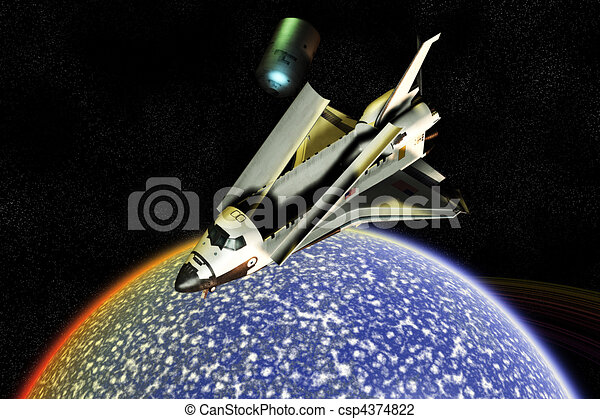 Space Shuttle Exploration Disaster - csp4374822