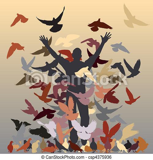 In the flock - csp4375936