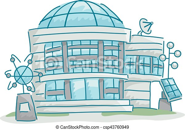 edificio, ciencia, laboratorio - csp43760949