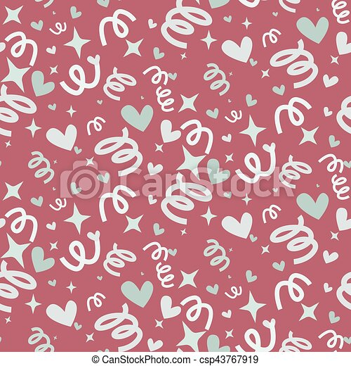 Wedding abstract seamless pattern in pastel soft colors. - csp43767919