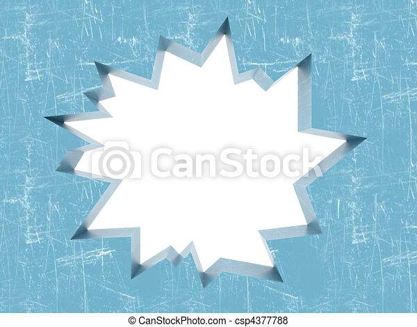 Broken Ice with uneven fracture - csp4377788
